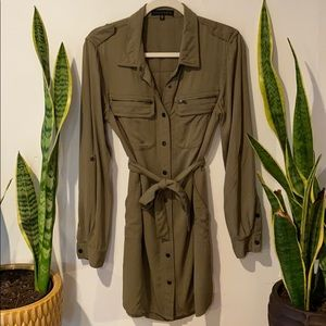 Nordstrom Sanctuary Military Button-Dress